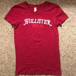Pink/red Hollister tee shirt